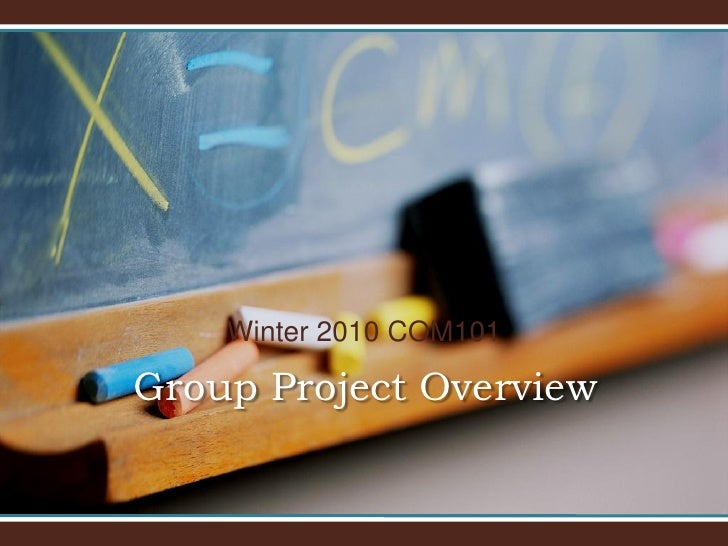 Winter 2010 COM101  Group Project Overview