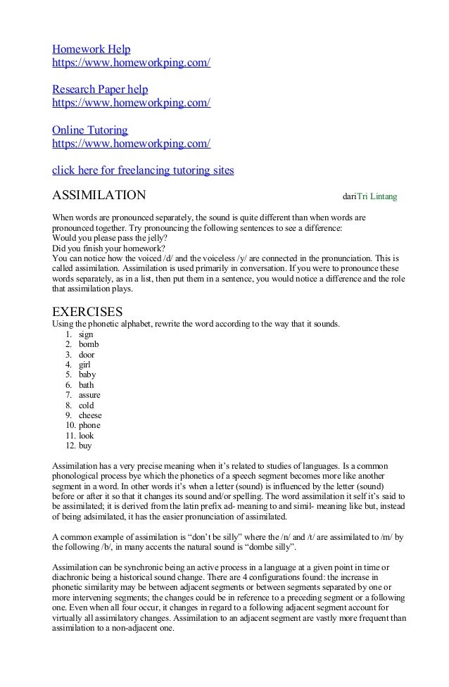 assimilation research paper