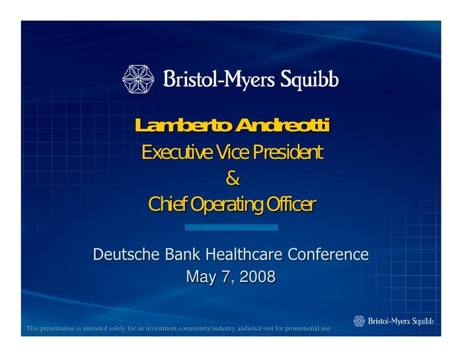 Lamberto Andreotti                                        Executive Vice President                                        ...