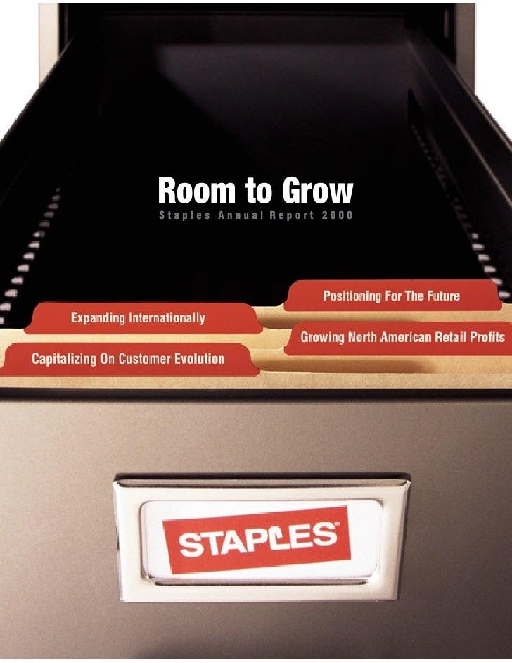 staples Annual Report 2000