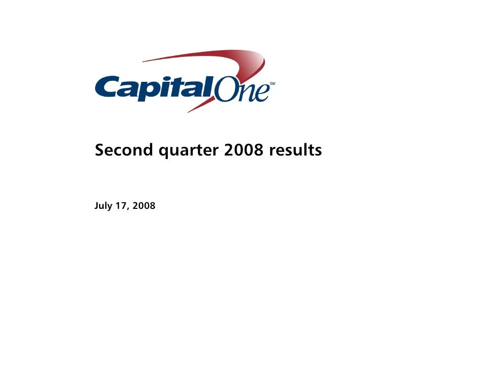 Second quarter 2008 results   July 17, 2008