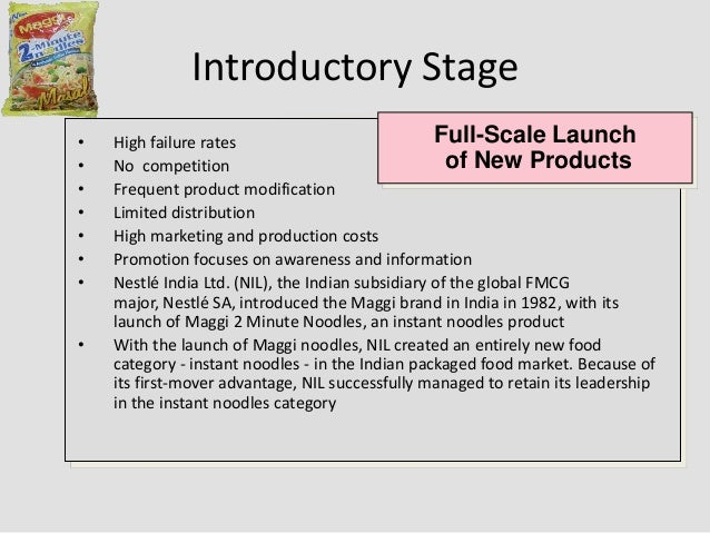 product life cycle of fmcg product New product development: mar-no toggle navigation encyclopedia encyclopedia of small business encyclopedia of business encyclopedia of american industries the product's life cycle in such a competitive and turbulent environment might last only a few months.