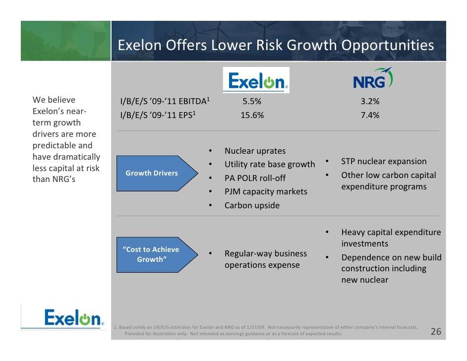 Exelon rate credit