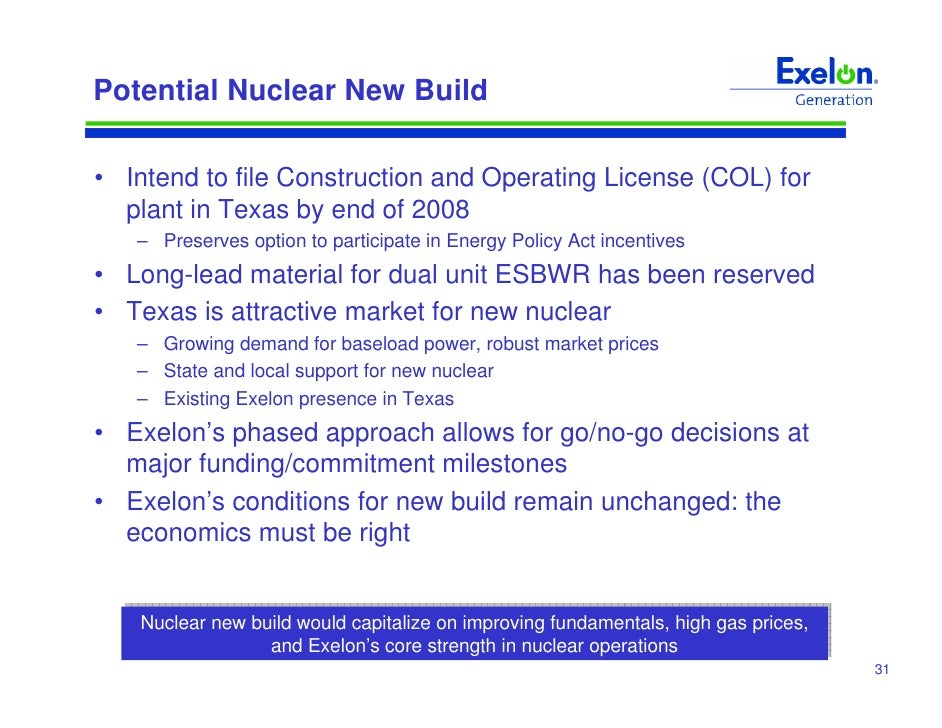 Exelon generation company llc