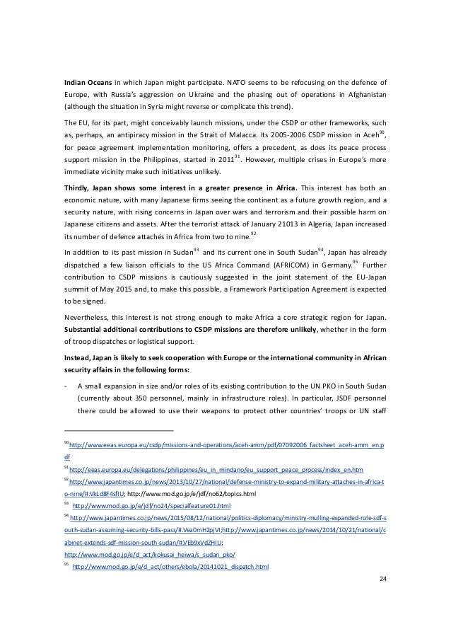 Follow-on report_EU-Japan Defence Industrial Cooperation (Nov 2015)
