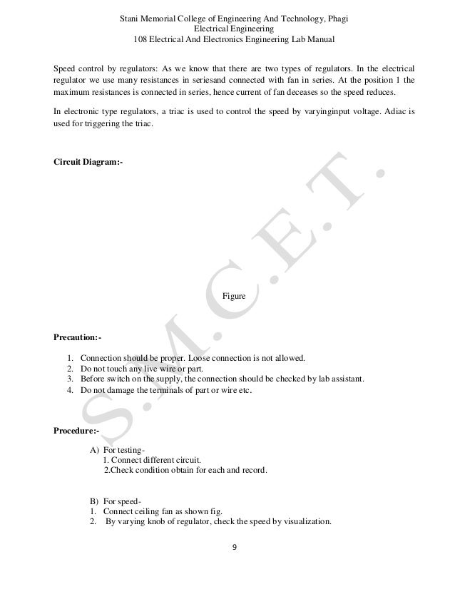 electrical and electronics lab manual rh slideshare net electrical wiring lab manual for diploma electrical wiring lab manual for diploma