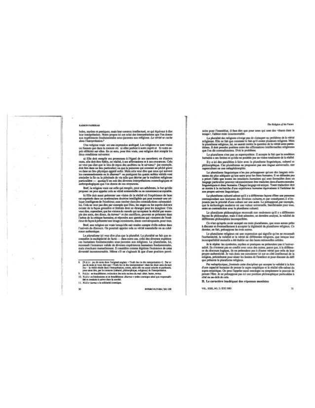 108 la religion de l'avenir. cahier ii. r. panikkar. (document à télécharger en format pdf, 2,9 mb).