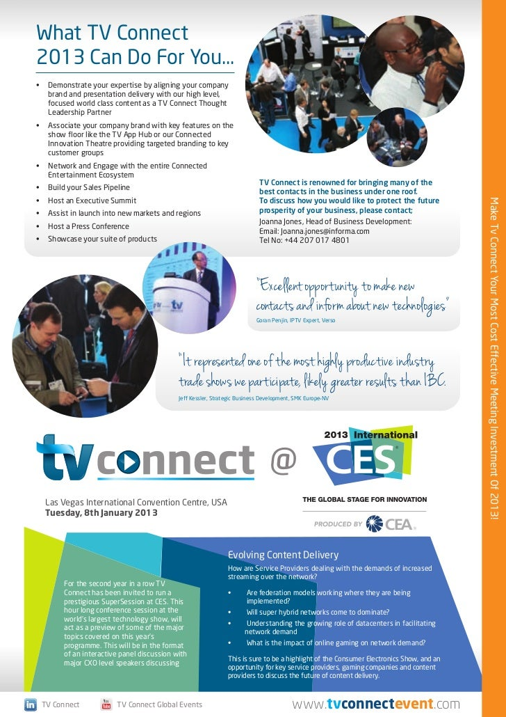 TV Connect London 2013 Preview Brochure