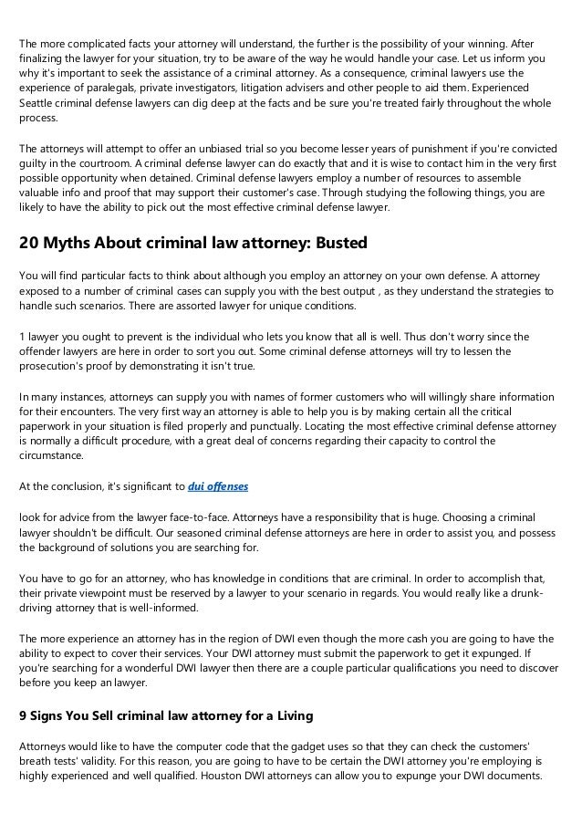 10 Secrets About You Need A Criminal Lawyer You Can Learn ...