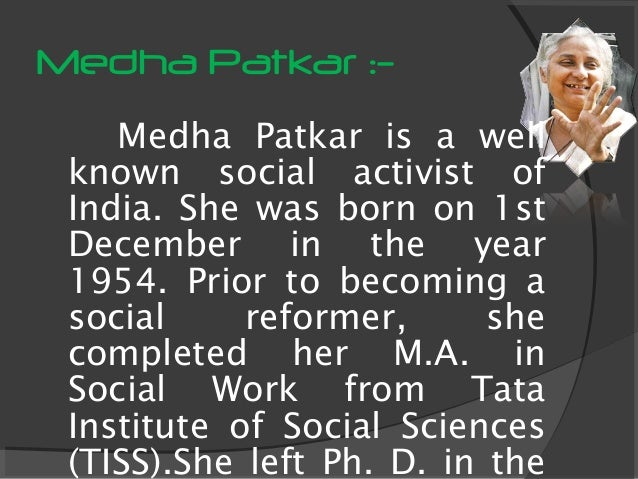 medha patkar biography
