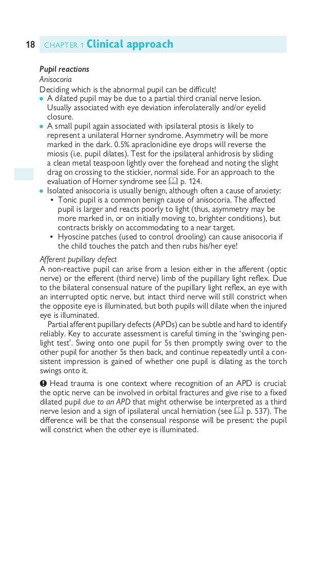 19CRANIAL NERVES Table 1.2 Eye findings in neurological disease Telangectasia Ataxia telangectasia, Fabry Corneal opacity W...