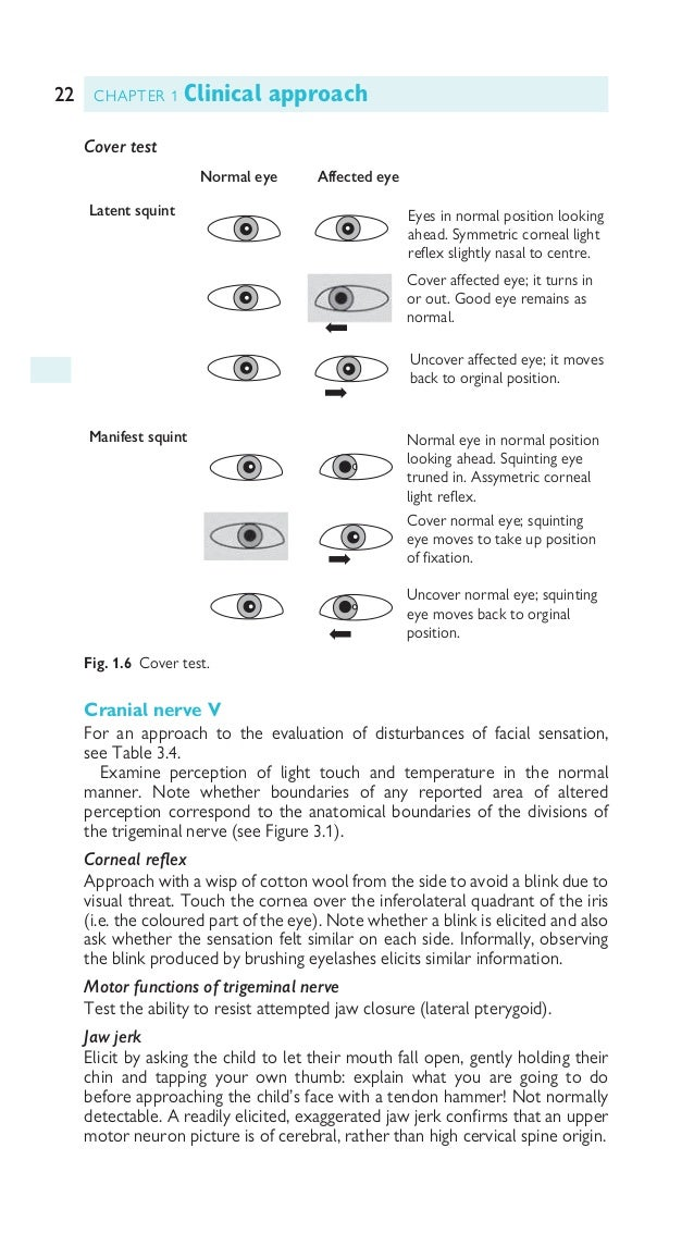 23CRANIAL NERVES Cranial nerve VII For an approach to the evaluation of abnormal facial movement, see b p. 126. Ask the ch...