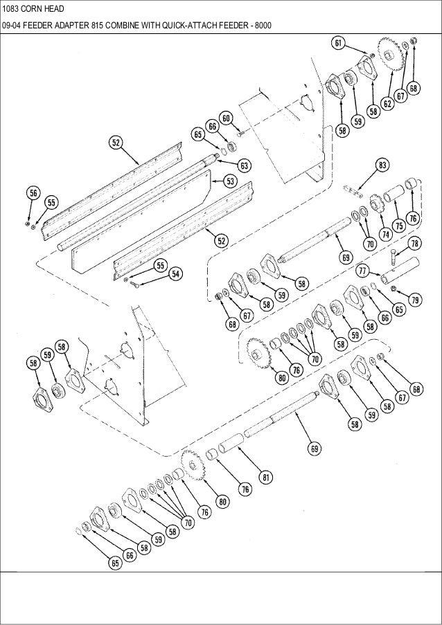 CASE 1083 corn head parts catalog