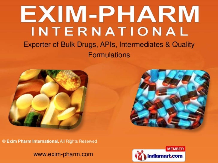 Exporter of Bulk Drugs, APIs, Intermediates & Quality Formulations<br />