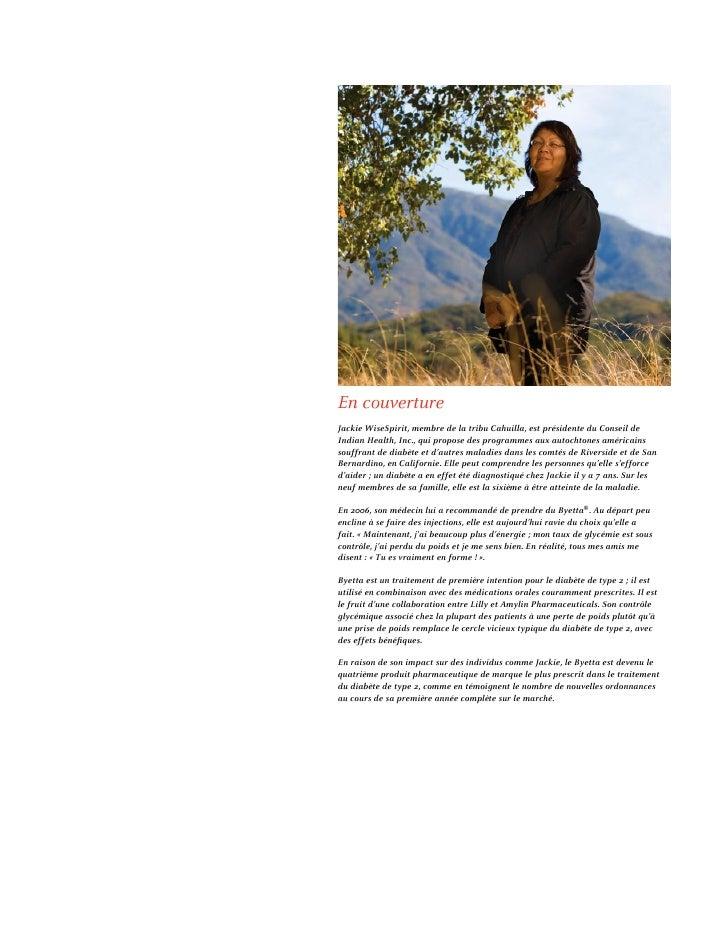 En couverture Jackie WiseSpirit, membre de la tribu Cahuilla, est présidente du Conseil de Indian Health, Inc., qui propos...