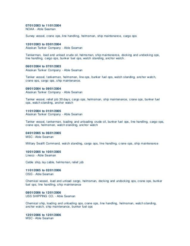 Ordinary Seaman Curriculum Vitae - Contegri.com