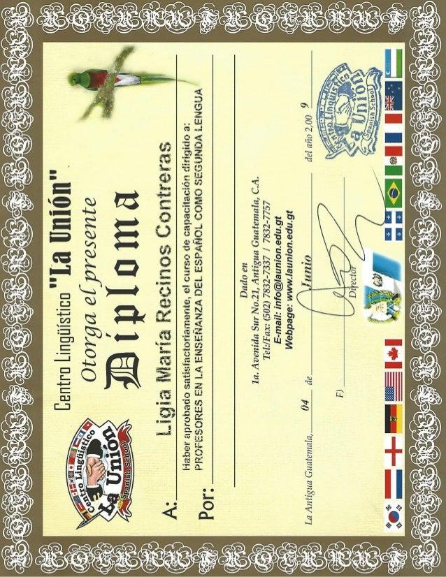 Ligia Recinos Spanish teacher certification