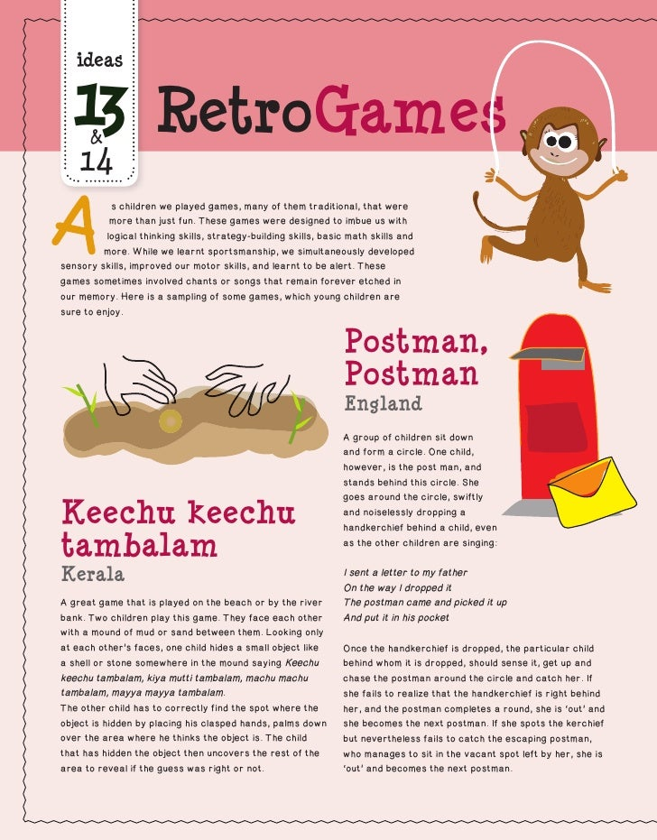 ideas  13  &                     RetroGames    14           s children we played games, many of them traditional, that wer...