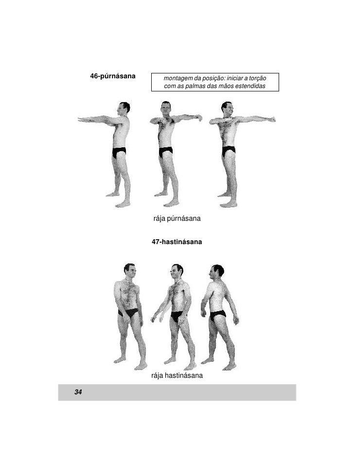 46-púrnásana      montagem da posição: iniciar a torção                       com as palmas das mãos estendidas           ...