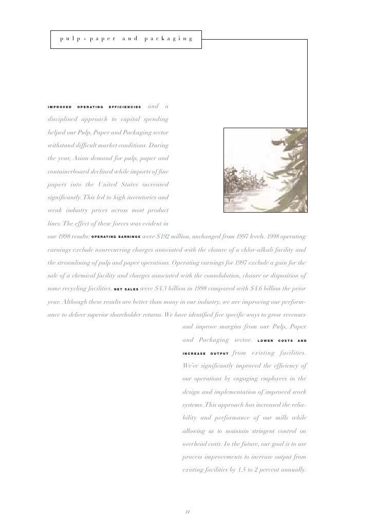 weyerhaeuser annual reports 1998