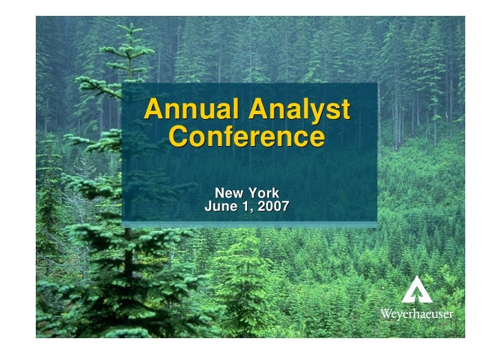 Annual Analyst                          Conference                                             New York                   ...