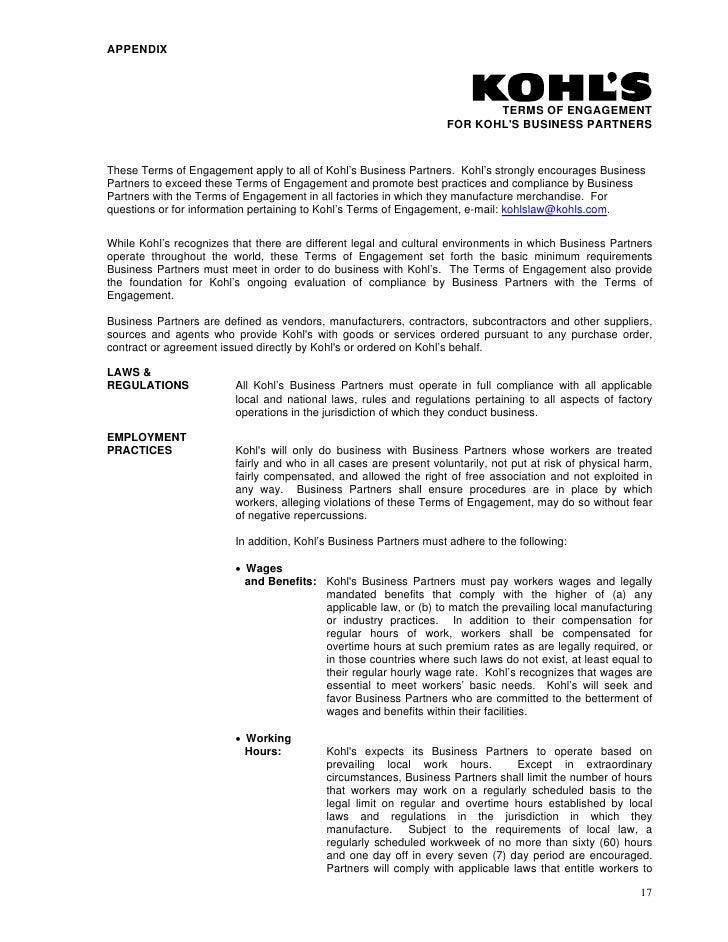 Kohls Download Corporate Governance Documentation Report To Sharehol