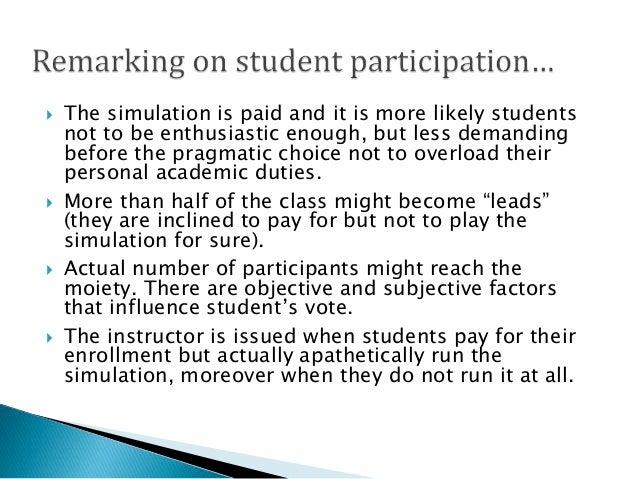 Marketing Simulation Conduction in Postgraduate IT Class