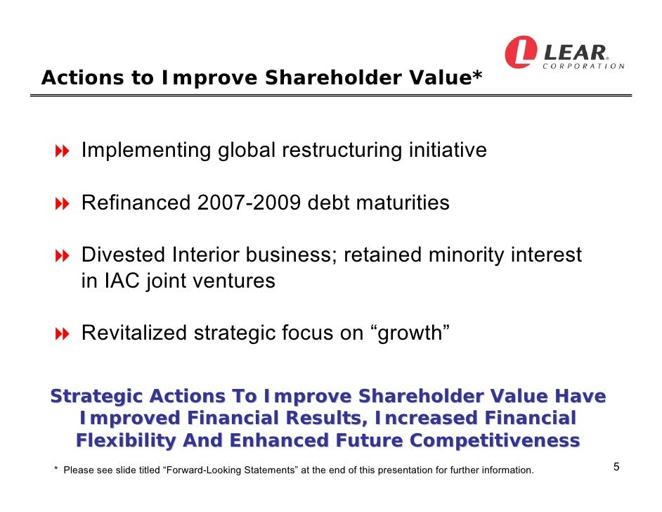 adidas in 2009 has corporate restructuring increased shareholder value Essentials of strategic management the quest for  262 building shareholder value:  adidas in 2009: has corporate restructuring increased.