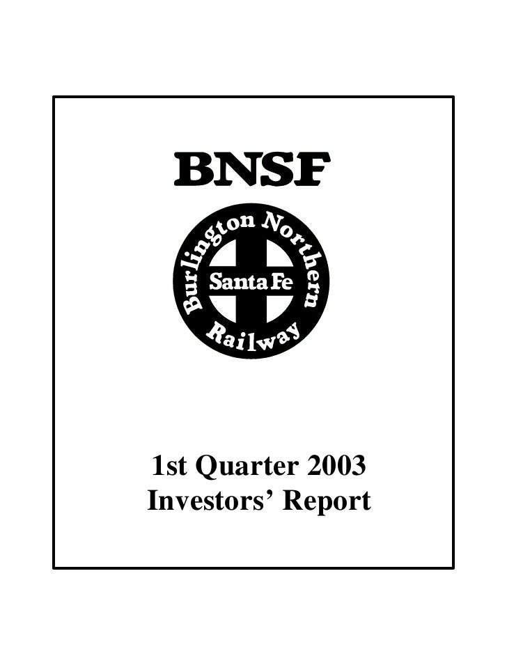 1st Quarter 2003 Investors' Report