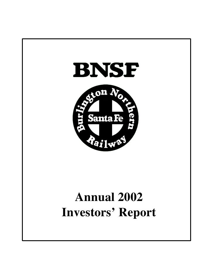 Annual 2002 Investors' Report