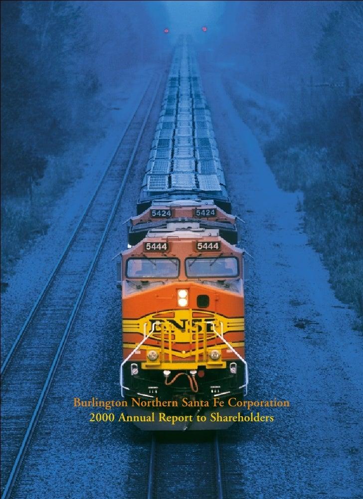 Burlington Northern Santa Fe Corporation   2000 Annual Report to Shareholders