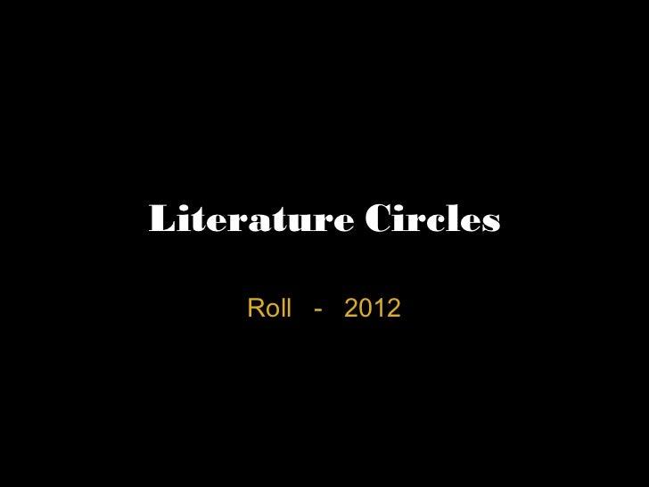 Literature Circles Roll - 2012