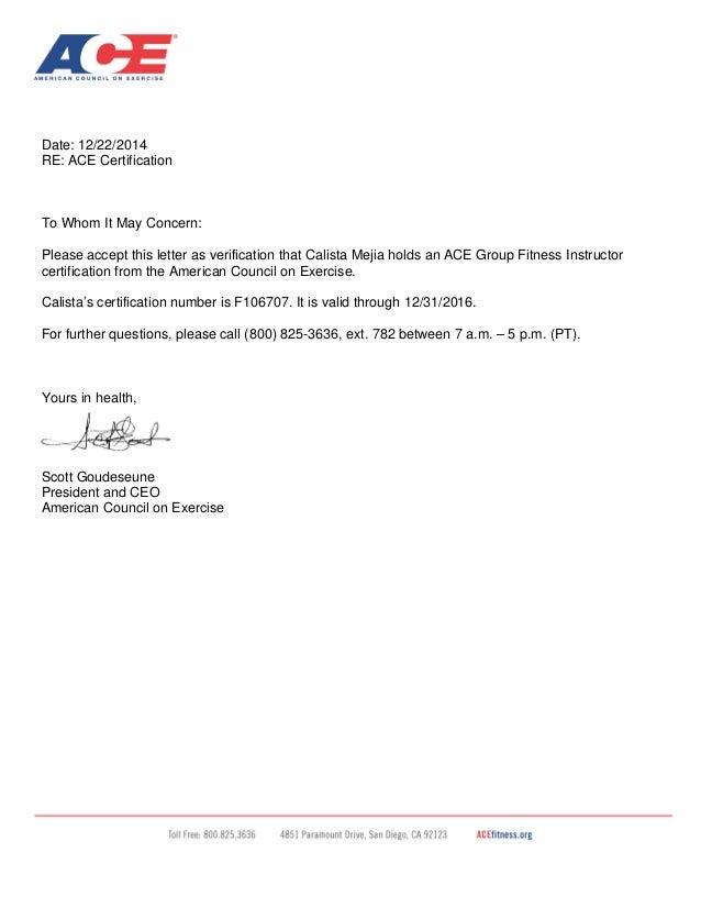 Letter Of Certification Peopledavidjoel