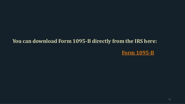 1094 B 1095 B Reporting Requirements A Step By Step Guide