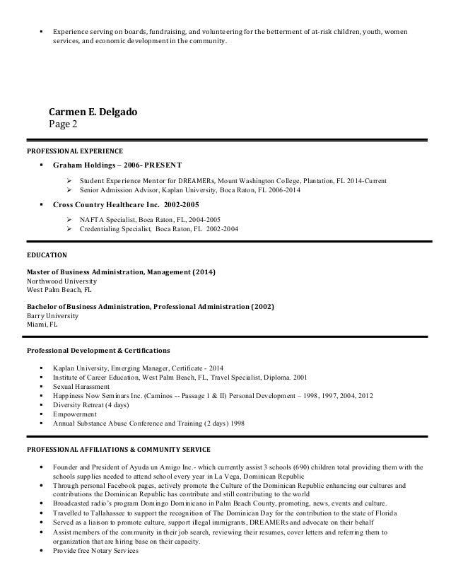 Carmen Delgado - 2015-Resume-1 Slide 2