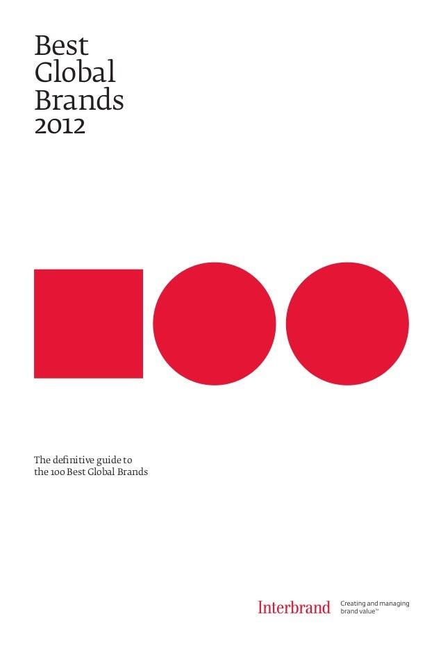 The definitive guide tothe 100 Best Global BrandsBestGlobalBrands2012