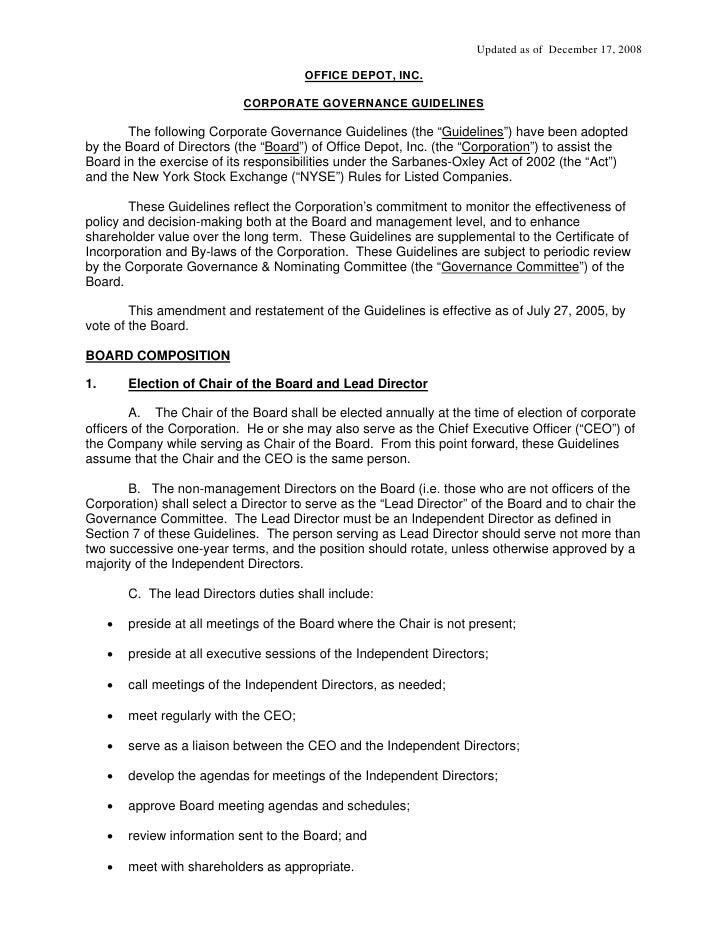 Updated as of December 17, 2008                                          OFFICE DEPOT, INC.                               ...