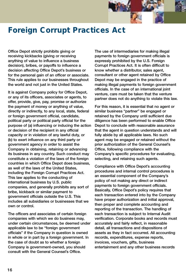 the foreign corrupt practices act essay Argumentative essay on avon and bribery scandal avon and bribery scandal  foreign corrupt practices act compliance guidebook protecting your organization from bribery and corruption hoboken, nj, wiley bixby, m b, (2010) lion awakes: the foreign corrupt practices act-1977 to 2010, the.