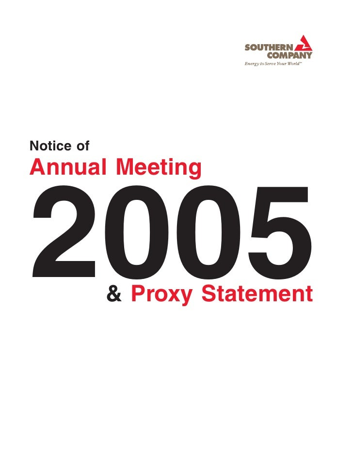 Notice of Annual Meeting    2005        & Proxy Statement