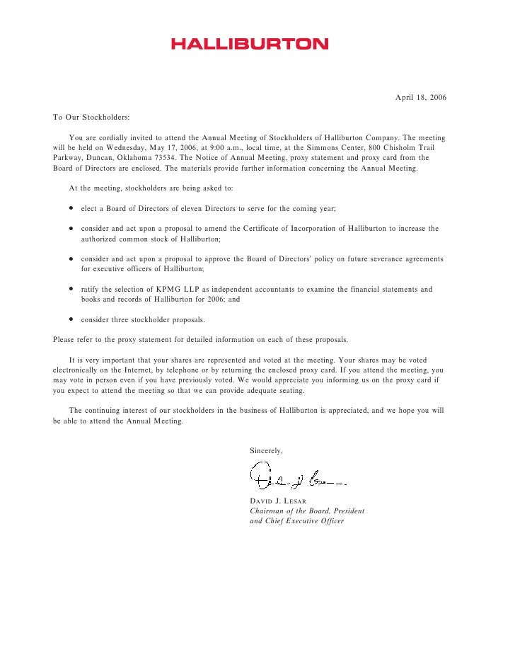 April 18, 2006  To Our Stockholders:       You are cordially invited to attend the Annual Meeting of Stockholders of Halli...