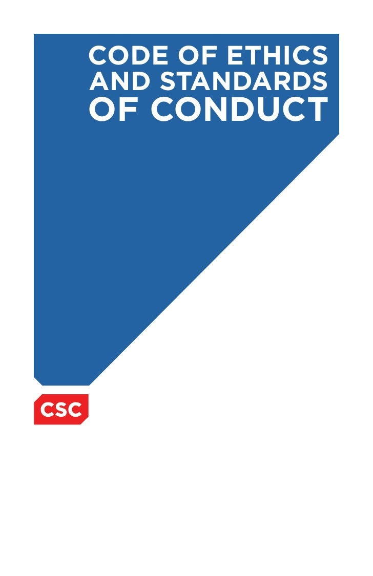 CODE OF ETHICS AND STANDARDS OF CONDUCT
