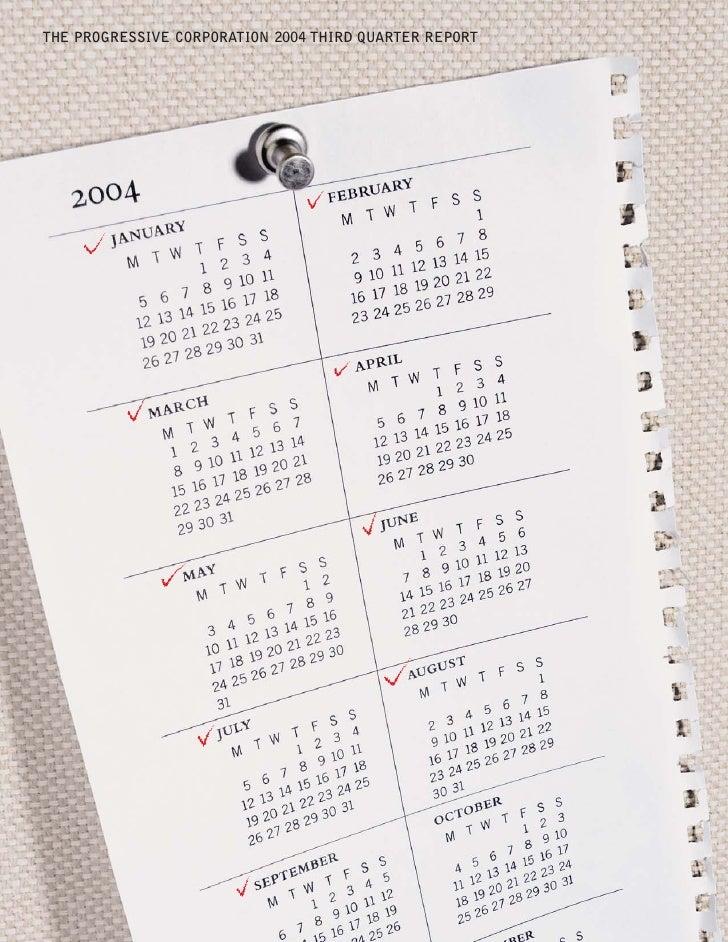 THE PROGRESSIVE CORPORATION 2004 THIRD QUARTER REPORT