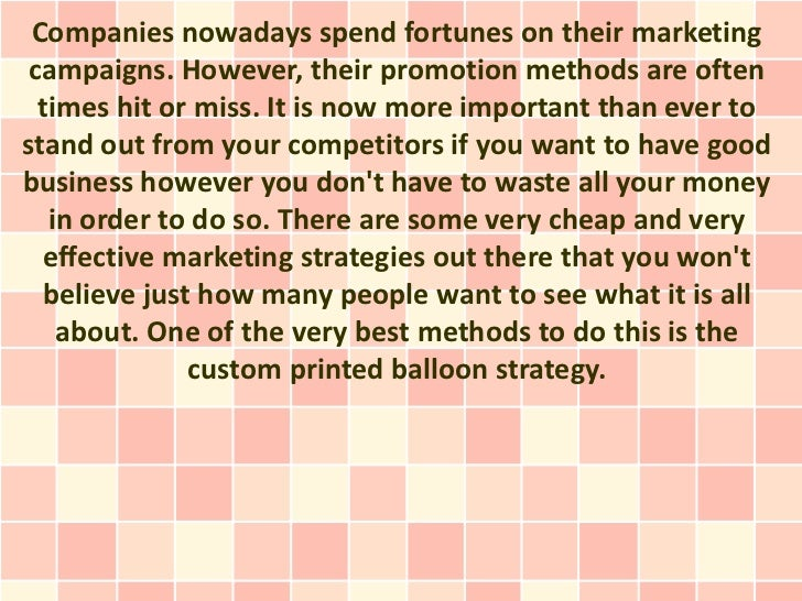 Companies nowadays spend fortunes on their marketing campaigns. However, their promotion methods are often  times hit or m...