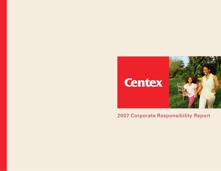 2007 Corporate Responsibility Report