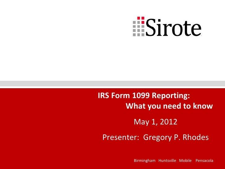 1099 Presentation