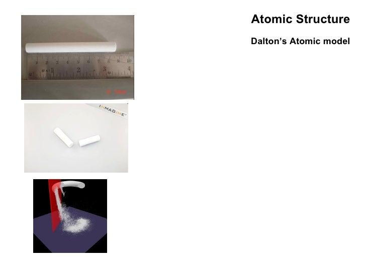 Atomic Structure Dalton's Atomic model