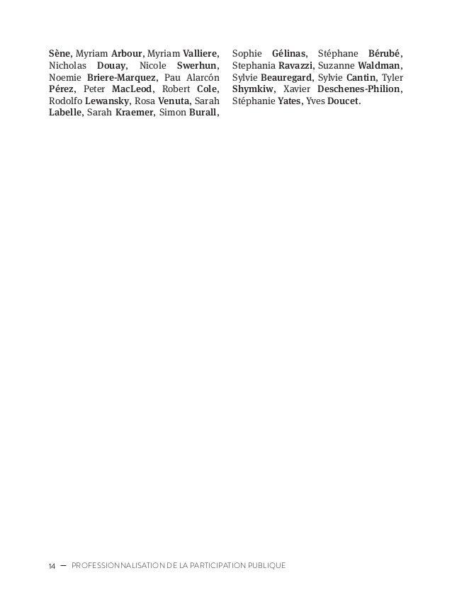 17CARTOGRAPHIE DES ACTEURS DE LA PARTICIPATION PUBLIQUE CARTOGRAPHIE DES ACTEURS DE LA PARTICIPATION PUBLIQUE 1.1 Qu'enten...