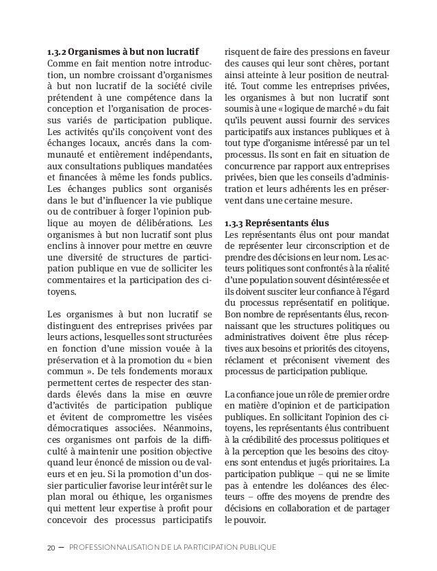 23CARTOGRAPHIE DES ACTEURS DE LA PARTICIPATION PUBLIQUE 1.3.5 Organismes publics indépen- dants Les organismes publics ind...