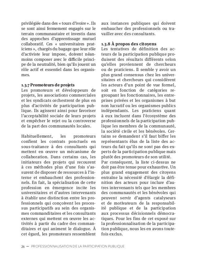 29CARTOGRAPHIE DES ACTEURS DE LA PARTICIPATION PUBLIQUE