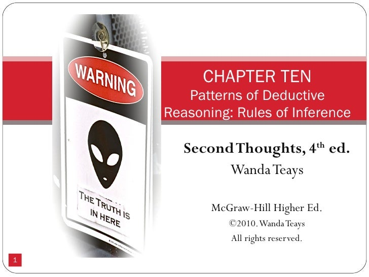 Second Thoughts, 4 th  ed. Wanda Teays McGraw-Hill Higher Ed. ©2010. Wanda Teays All rights reserved. CHAPTER TEN Patterns...